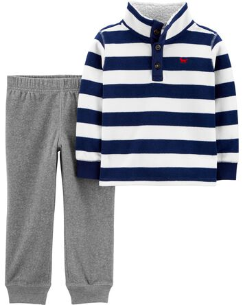 2-Piece Fleece Pullover & Jogger Se...