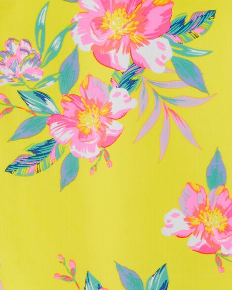 Maillot de bain 1 pièce fleuri à volants