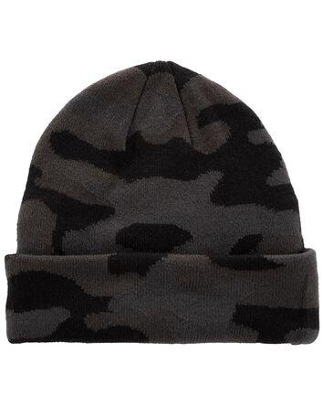 Bonnet tricoté camouflage