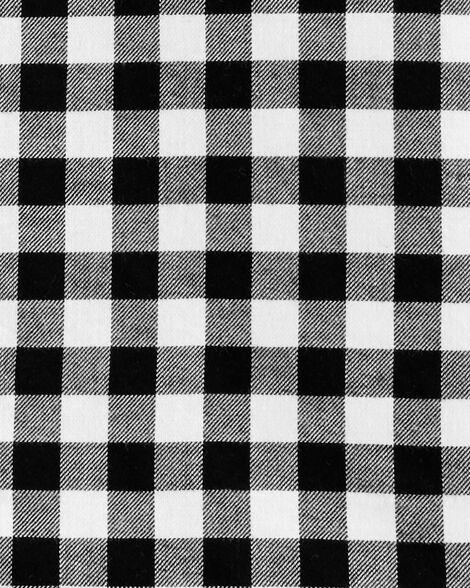 Chemise boutonnée en sergé à damier