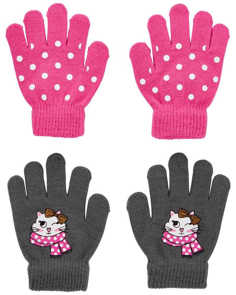 Emballage de 2 paires de mini gants chat KOMBI, , hi-res