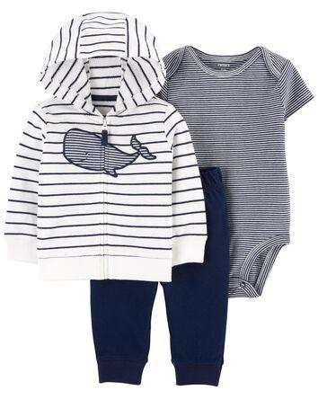 3-Piece Whale Little Jacket Set