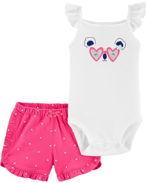 2-Piece Koala Bodysuit & Short Set