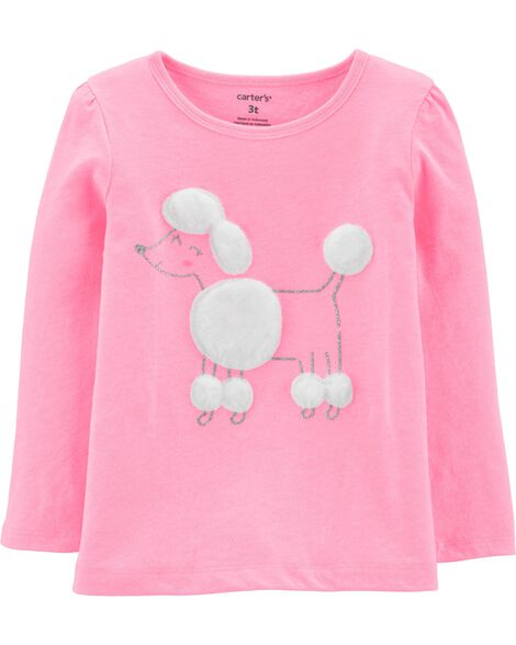 Neon Glitter Poodle Jersey Tee