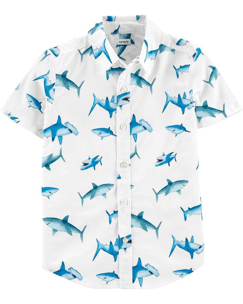 Chemise boutonnée à requin, , hi-res