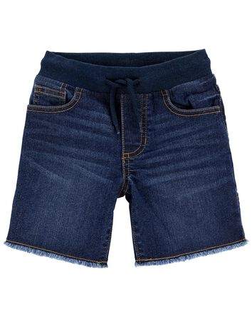 Short à enfiler en tricot de denim...