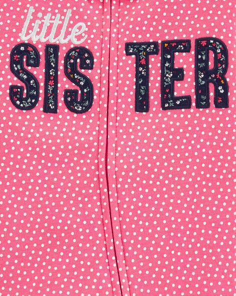 Grenouillère en coton pour dormir et jouer avec glissière 2 sens Petite sœur