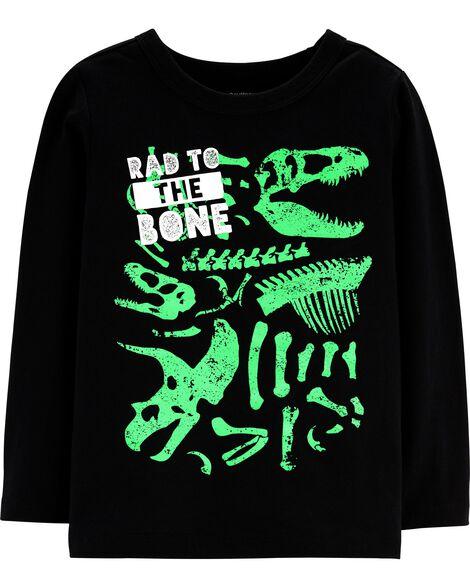 T-shirt à imprimé original qui brille dans le noir