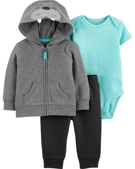 3-Piece Walrus Little Jacket Set