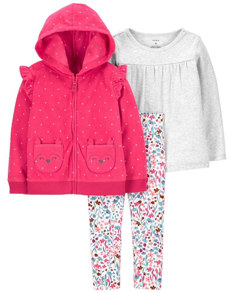 3-Piece Fox Little Jacket Set, , hi-res