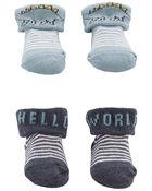 Emballage de 2 paires de chaussons souvenirs, , hi-res