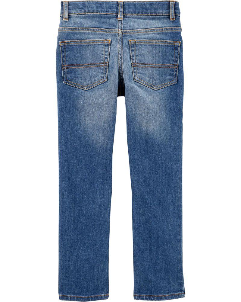 Jeans fuseau coupe régulière - indigo vif, , hi-res