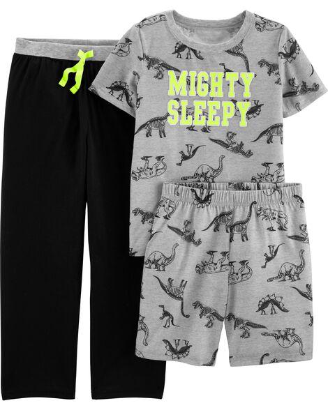 Pyjama en jersey 3 pièces motif dinosaure