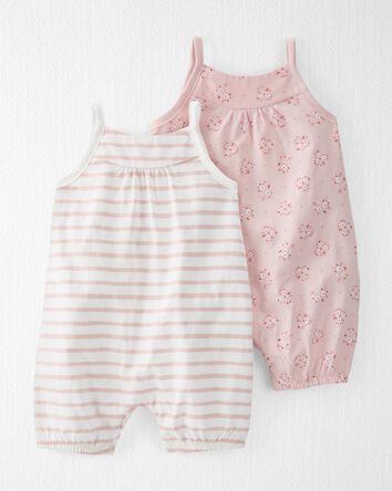 2-Pack Organic Rompers