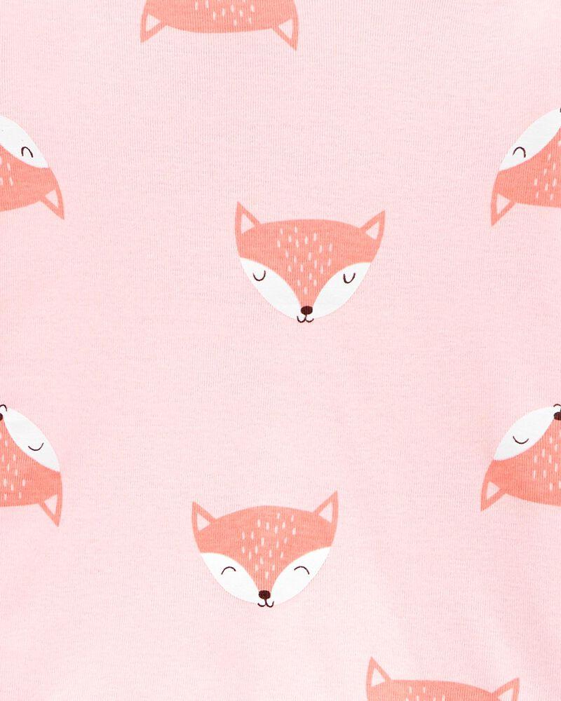 4-Piece Fox Snug Fit Cotton PJs, , hi-res