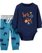 2-Piece Wild One Bodysuit Pant Set, , hi-res