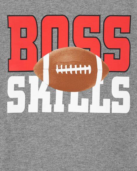 T-shirt en jersey de style superposé à motif football