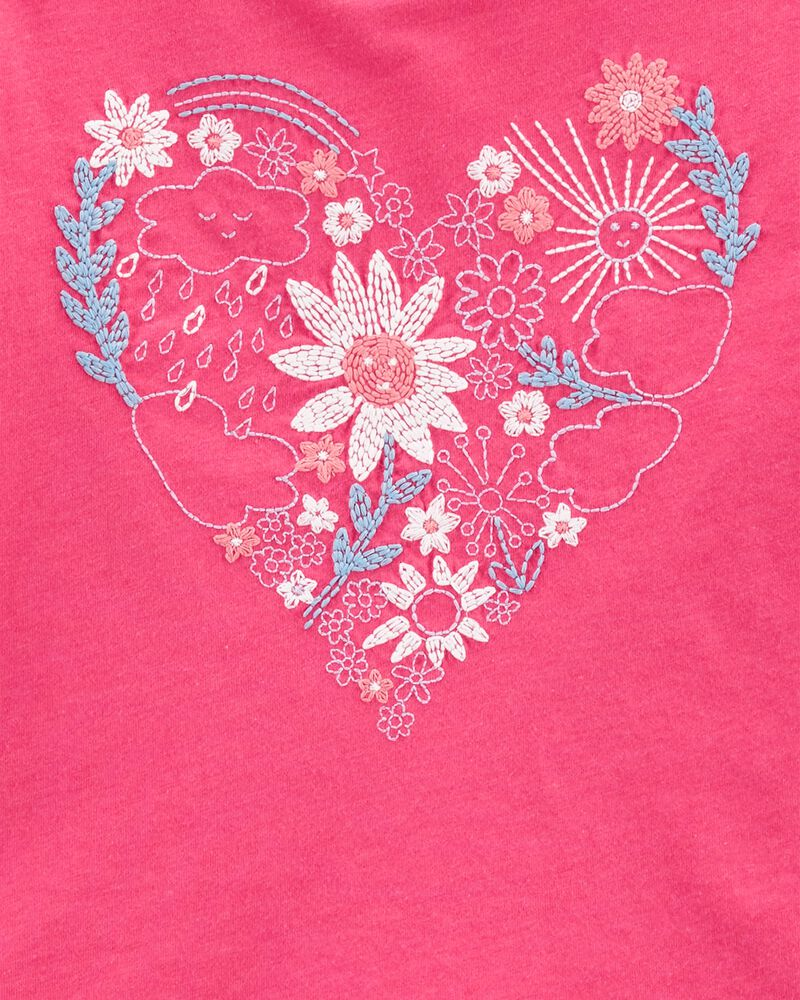 Flower Heart Boxy Tee, , hi-res