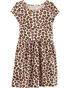 Leopard Jersey Dress, , hi-res