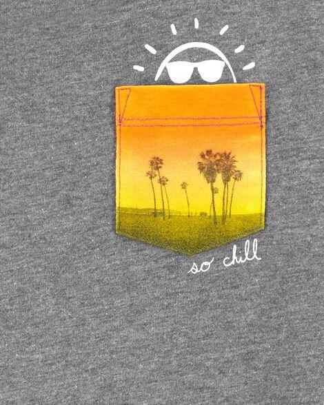 T-shirt à poche Soleil