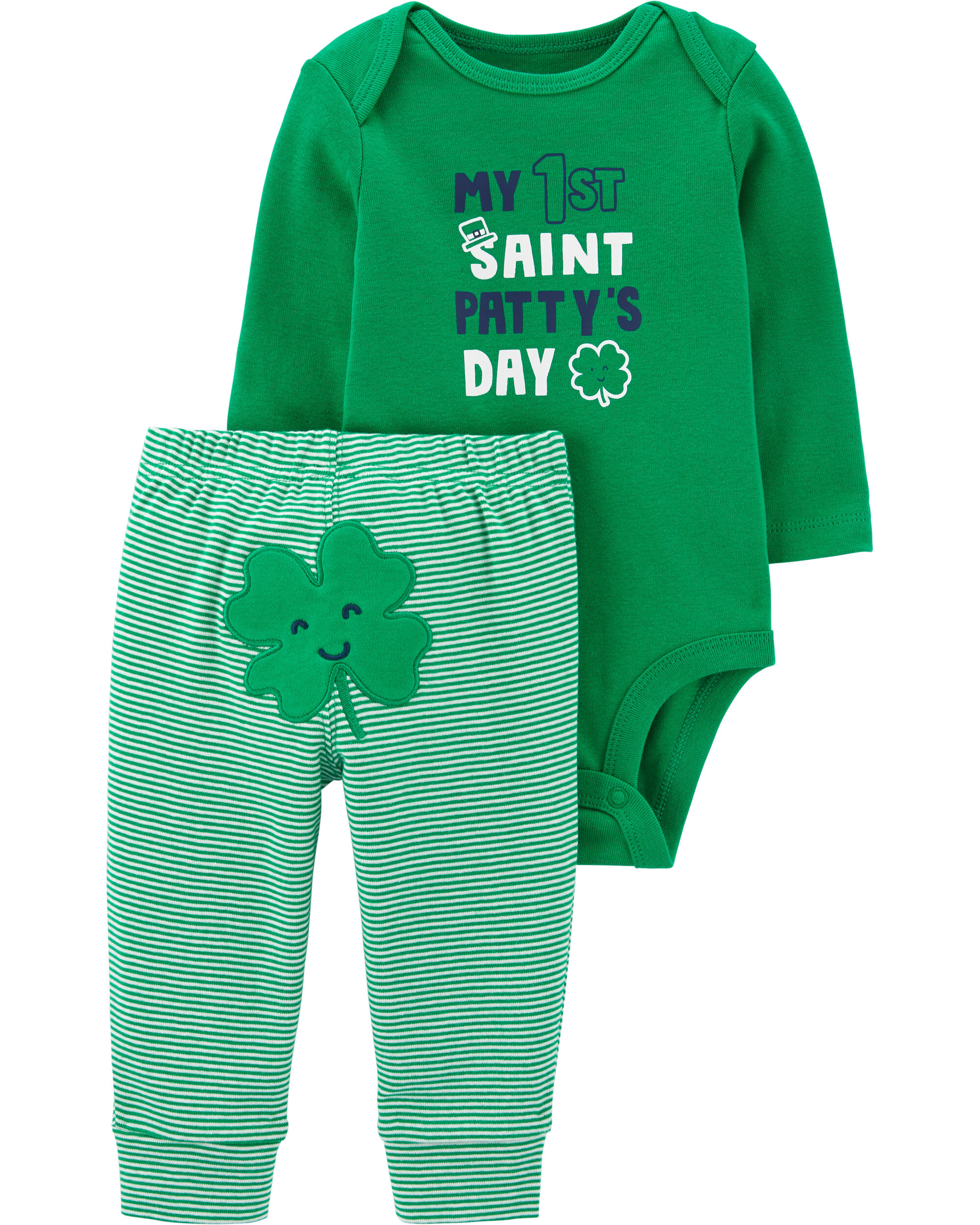 Carters St Patricks Day Dress with Shamrock for Baby Girls