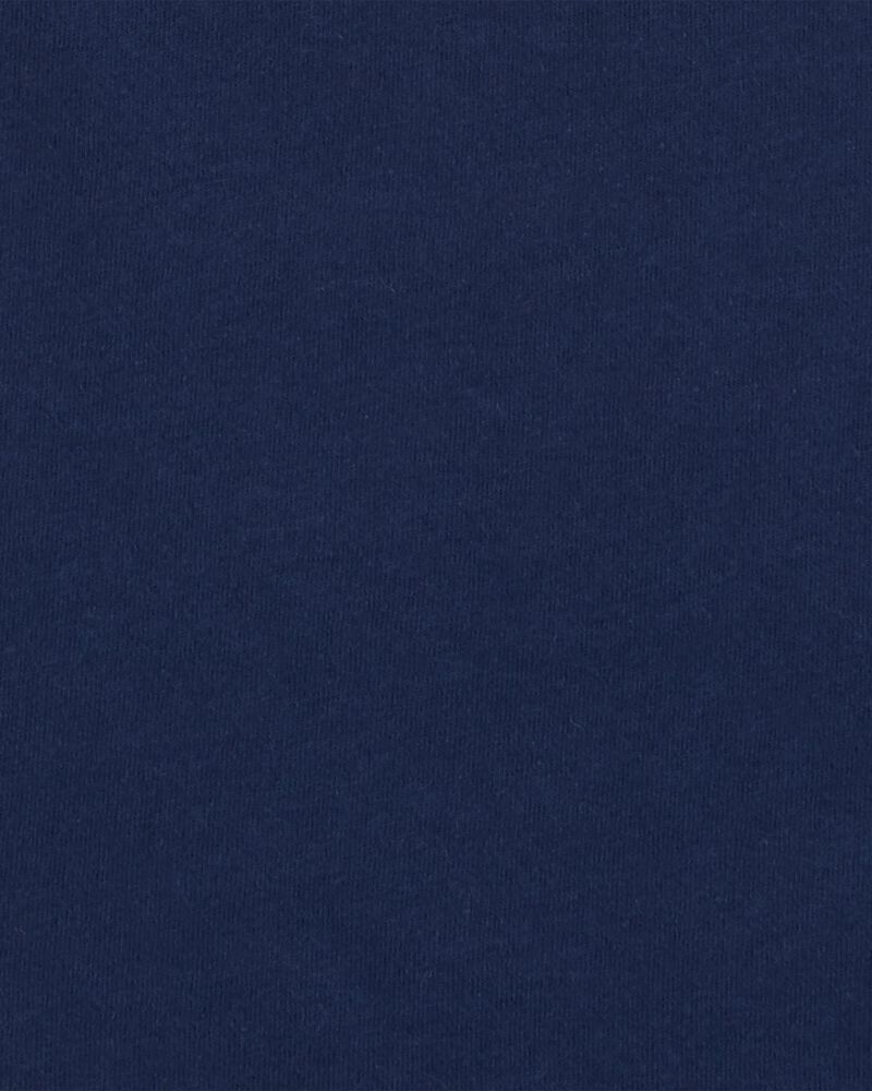 Navy Cotton Tee, , hi-res