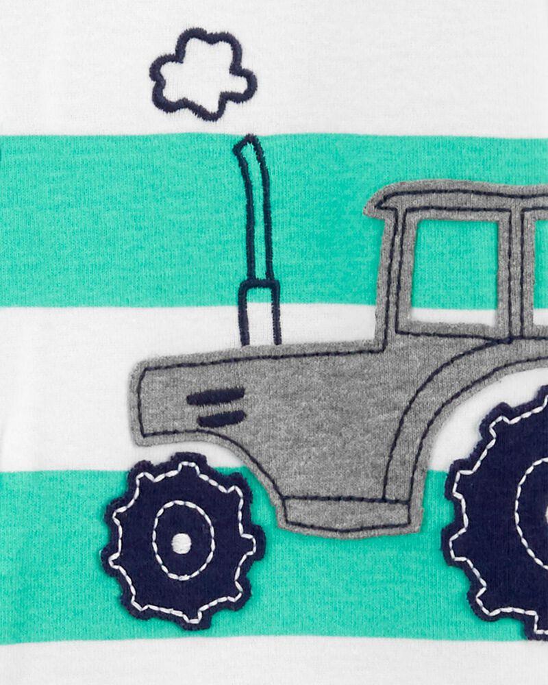 1-Piece Tractor 100% Snug Fit Cotton Footless PJs, , hi-res