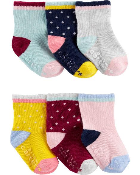 Emballage de 6 paires de chaussettes de couleurs contrastantes