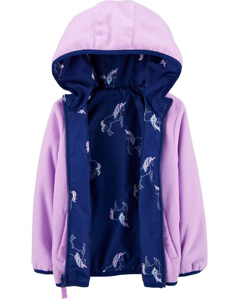 Reversible Unicorn Print Midweight Jacket
