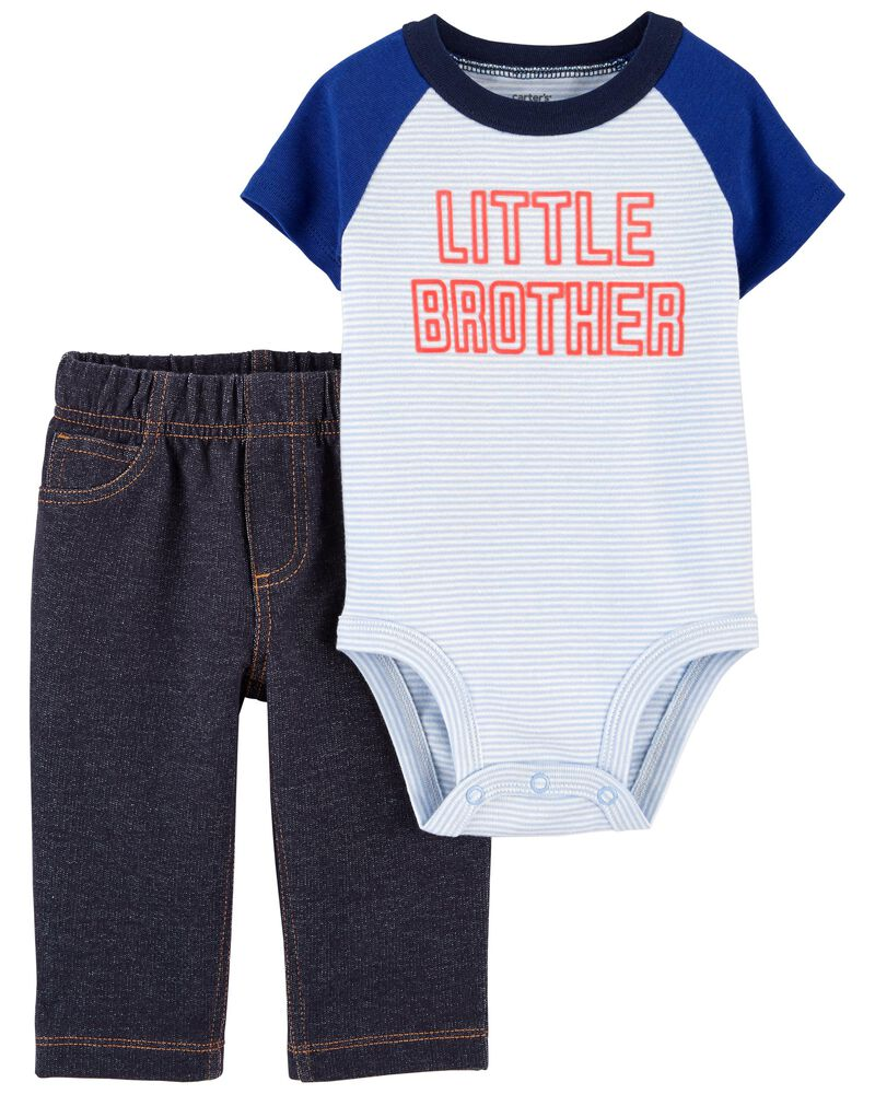 2-Piece Little Brother Bodysuit Pant Set, , hi-res