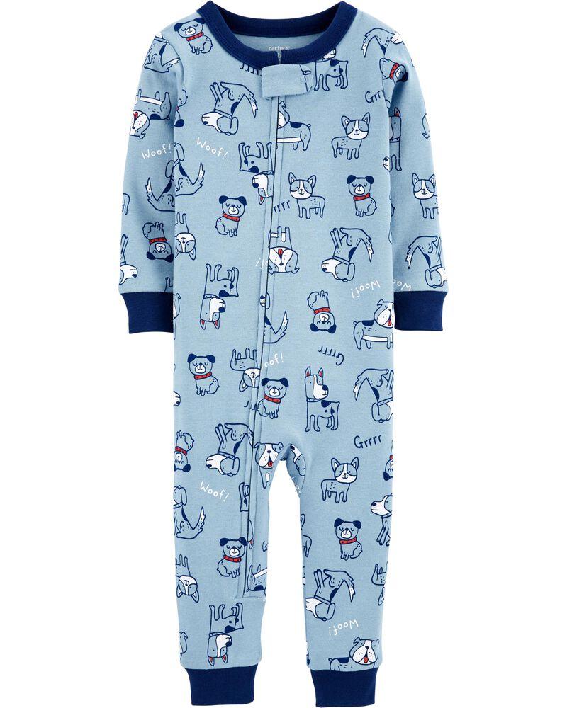 1-Piece 100% Snug Fit Cotton Footless PJs, , hi-res