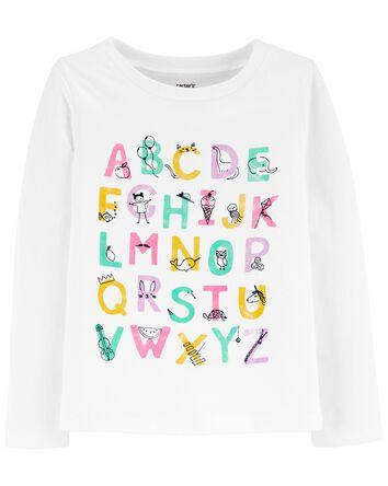 T-shirt en jersey avec alphabet