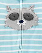 Pyjama 1 pièce en molleton sans pieds à raton laveur, , hi-res