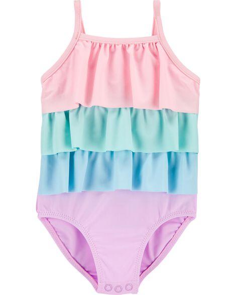 1-Piece Ruffle Swimsuit