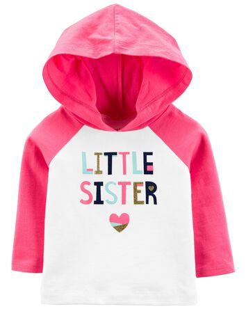 T-shirt à capuchon Little Sister