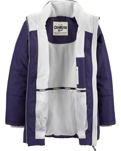 Fleece-Lined Heavyweight Hooded Coat