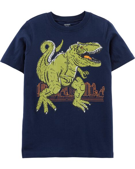 T-shirt en jersey à tyrannosaure