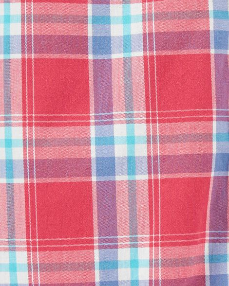 Cache-couche boutonné à motif écossais