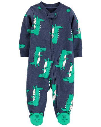 Alligator 2-Way Zip Cotton Sleep &...
