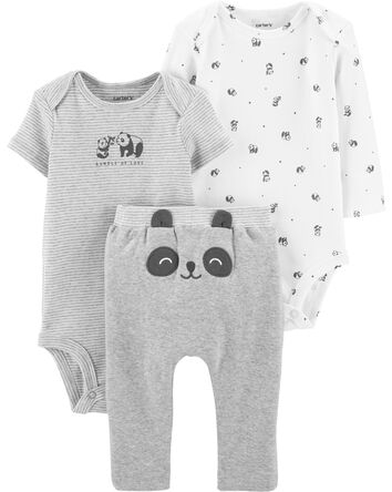 3-Piece Panda Little Character Set