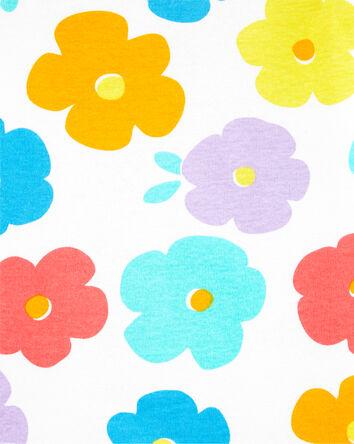 4-Piece Floral Snug Fit Cotton PJs