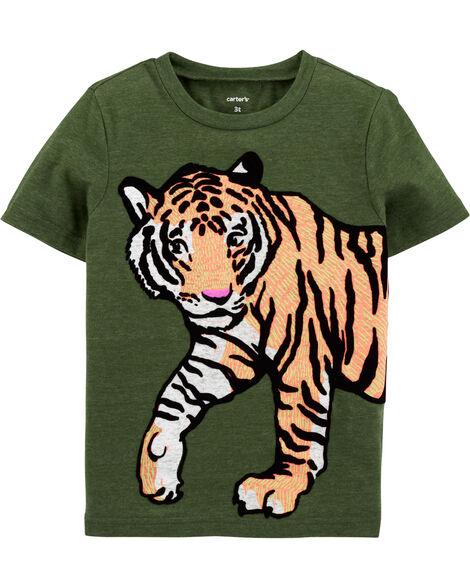 T-shirt en jersey à motif de tigre
