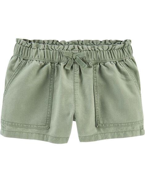 Ruffle Waist Pull-On Shorts