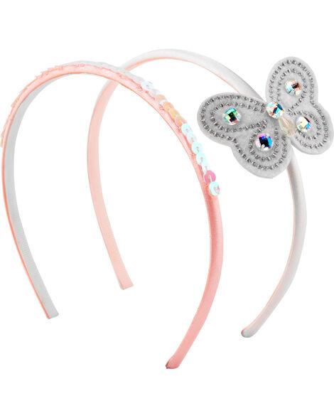 2-Pack Butterfly Headbands