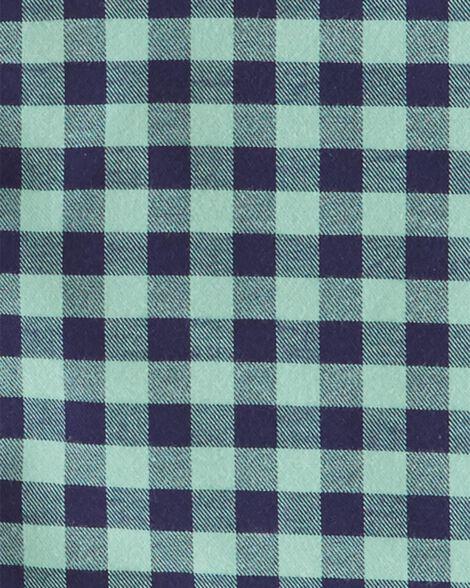 2-Piece Gingham Button-Front Top & Poplin Pant Set