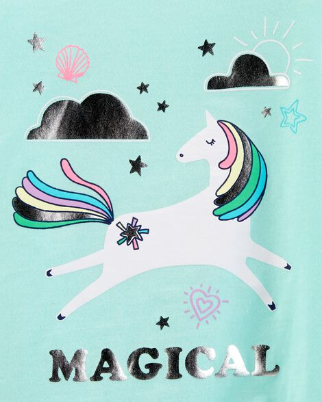 Side-Tie Unicorn Tee