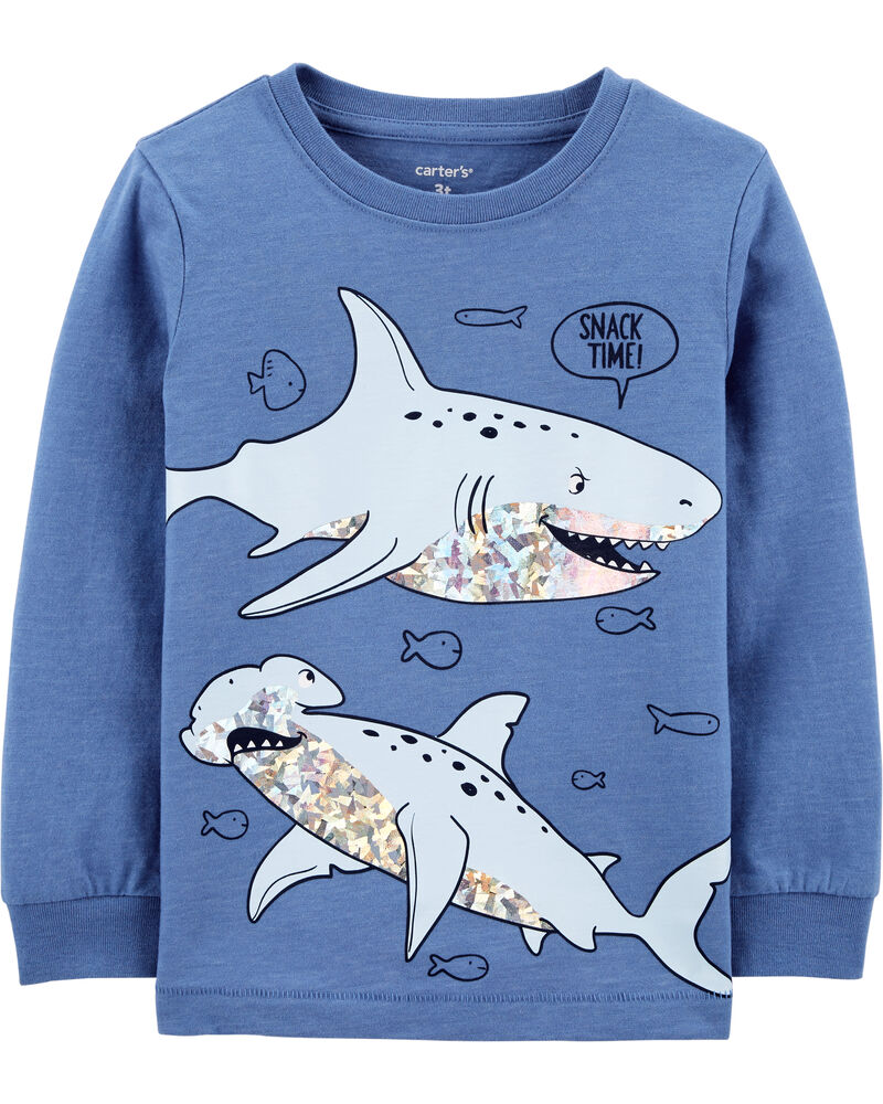Shark Snow Yarn Tee, , hi-res