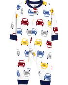 1-Piece Car Fleece Footless PJs, , hi-res