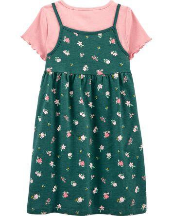 2-Piece Tee & Floral Dress Set