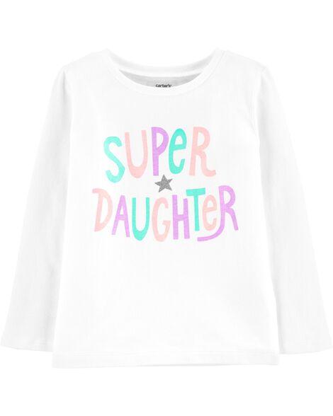 T-shirt en jersey Super Daughter